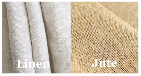 What is the difference between linen fabric and jute fabric?