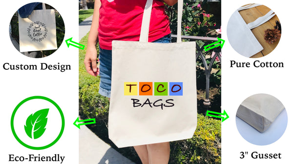 tocobags canvas tote bags