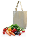 "3 PACK Natural Canvas Tote Bags TG02 (15"" x 16""x 3"")"