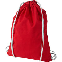 12 Pack Economy Cotton Drawstring Backpacks DB02, Assorted Mix Color