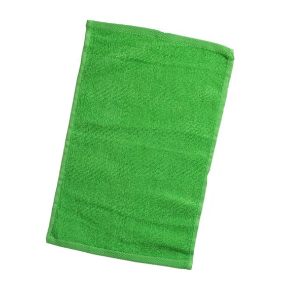 12 Pack Terry Velour Fingertip Towels, Lime Color