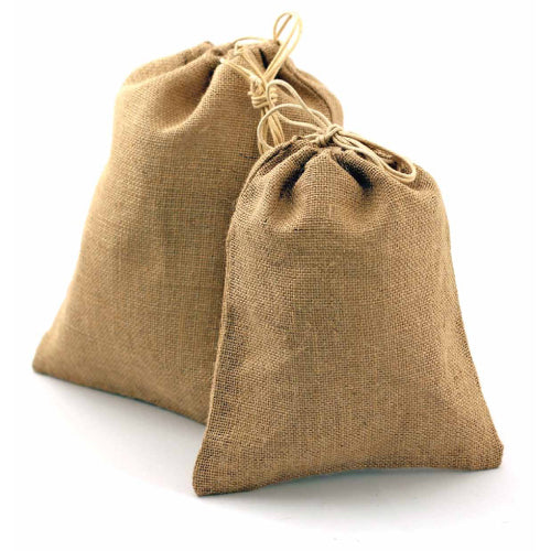 wholesale (48 Eco Pack) Burlap Gift Pouch Bags, Natural Jute Bags with Drawstring