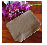 "10"" Washed Canvas Fabric Zipper Pouch Bags with Gusset"