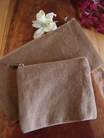 Washed Canvas Zipper Pouch Bags, Small Makeup Organization Bags