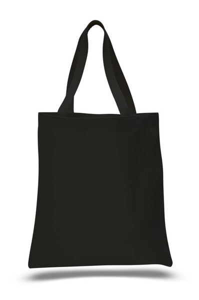 Black Color Heavy Canvas Tote Bags with Bottom Gusset