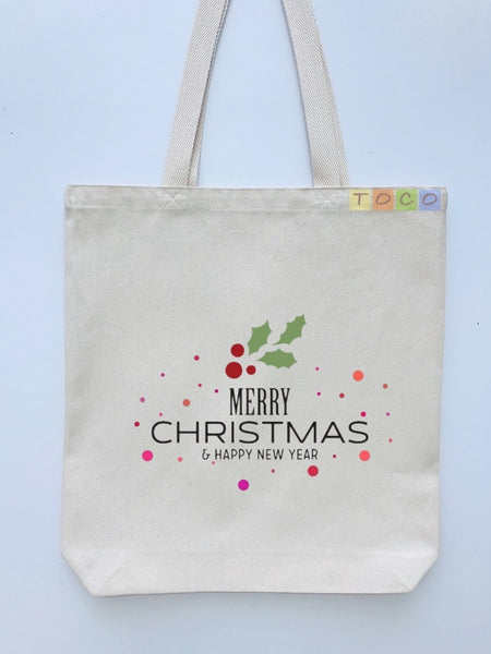 Christmas Gift Canvas Tote Bags CG01