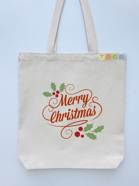 Christmas Gift Canvas Tote Bags CG02