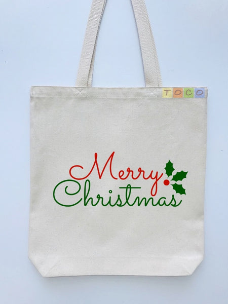 Christmas Gift Canvas Tote Bags CG03