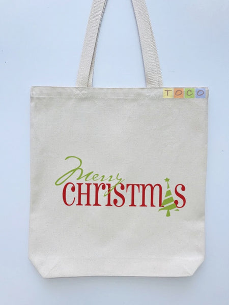 Christmas Gift Canvas Tote Bags