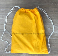 Bulk Cheap Canvas Cotton Drawstring Backpacks Tote Bags yellow