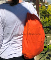 Bulk Cheap Canvas Cotton Drawstring Backpacks Tote Bags orange red