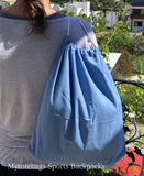 Bulk Cheap Canvas Cotton Drawstring Backpacks Tote Bags royal blue