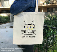 Cat Canvas Tote Bags Cat08