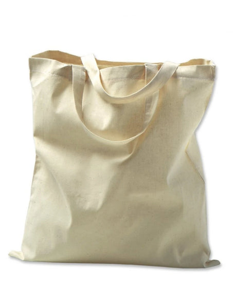 Organic Natural Cotton Tote Bags, Plain Totes with Gusset
