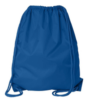royal blue Economy Polyester Sports Drawstring Backpack, Medium Size