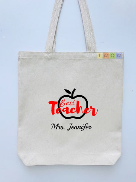 Teacher Canvas Gift Tote Bags tocobags