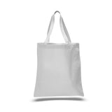 Wholesale Heavy Duty Plain Canvas Tote Bags, Flat, Standard Size