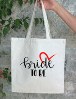 Personalized Wedding Canvas Gift Tote Bags, Bride, Bridesmaid Gift Bags, PWB15 bride to be