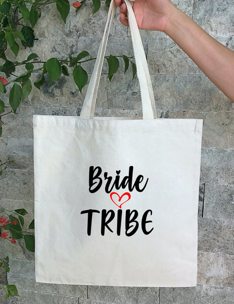 bride tribe Personalized Wedding Canvas Gift Tote Bags, Bride, Bridesmaid Gift Bags, PWB16