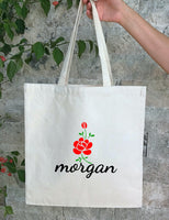 Personalized Wedding Canvas Gift Tote Bags, Custom Bride Bags, PWB22