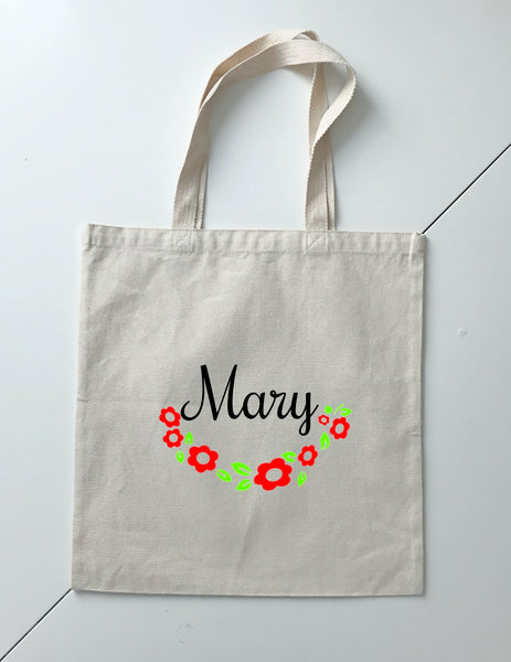 Personalized Wedding Canvas Gift Tote Bags, Bride, Bridesmaid Gift Bags, PWB06