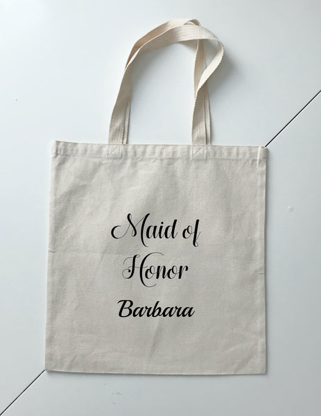Personalized Wedding Canvas Gift Tote Bags, Bride, Bridesmaid Gift Bags, PWB08