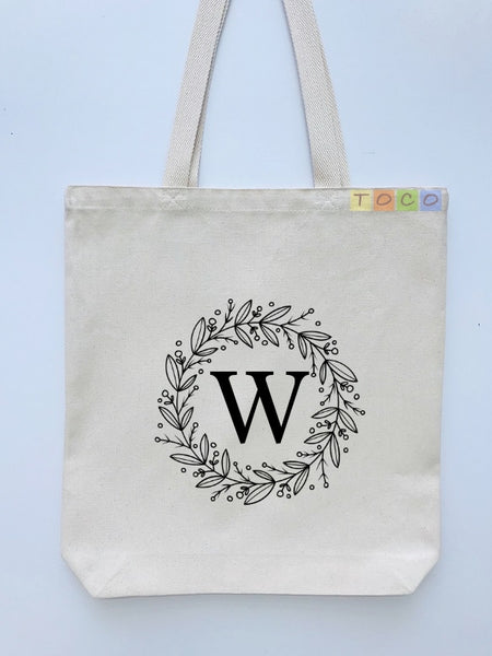 Monogrammed Canvas Tote Bags, MB03