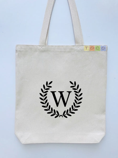 Monogrammed Canvas Tote Bags, MB04
