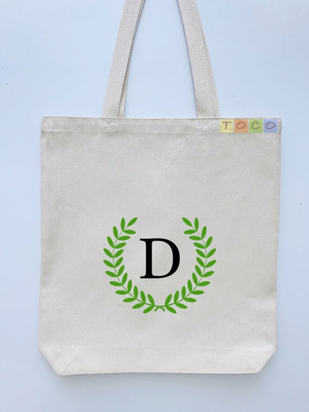 Monogrammed Canvas Tote Bags, MB05