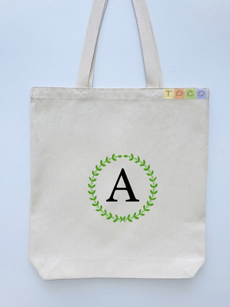 Monogrammed Canvas Tote Bags, MB06