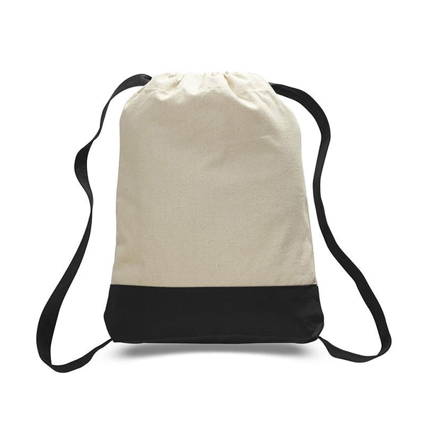 Heavy Canvas Two-Tone Color Sports Backpack