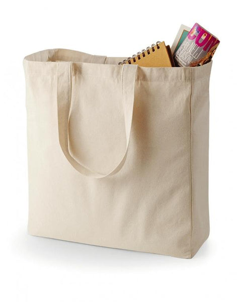 "Weekend Shopper Canvas Tote Bags TBW01 (15"" x 16"")"