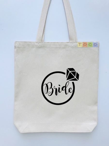 Bride Canvas Tote Bags BB10