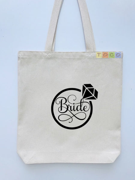 Bride Canvas Tote Bags BB11