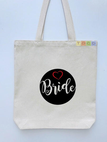 Bride Canvas Tote Bags BB13