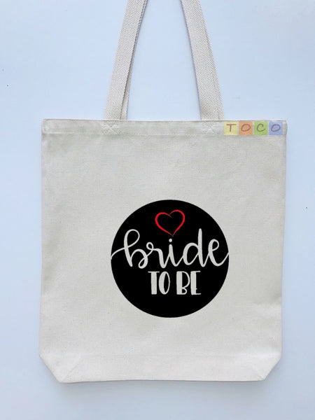 Bride To Be Canvas Tote Bags BB14