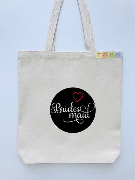 Bridesmaid Canvas Tote Bags BB16
