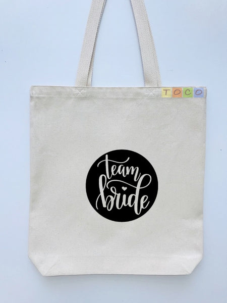 Bride Team Canvas Tote Bags BB19