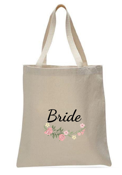 Wedding Canvas Gift Tote Bags, Party Gifts, Bride, WB33