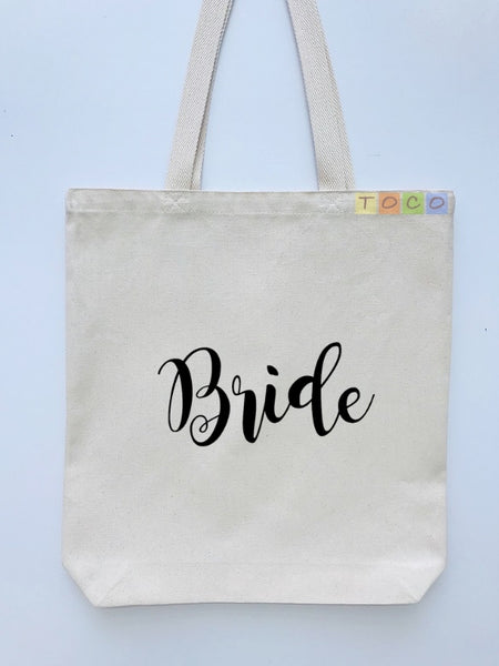 Bride Canvas Tote Bags