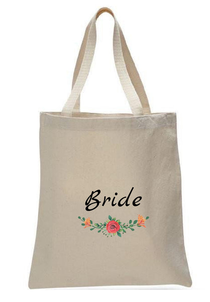 Wedding Canvas Gift Tote Bags, Party Gifts, Bride, WB42