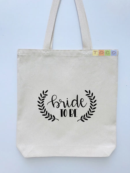 Bride To Be Canvas Tote Bag BB02