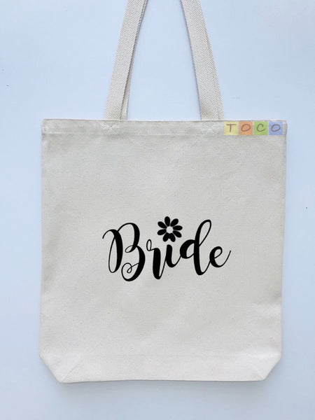 Bride Canvas Tote Bags BB04