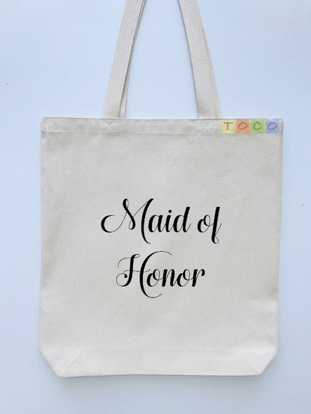 Maid of Honor Canvas Tote Bags BB06