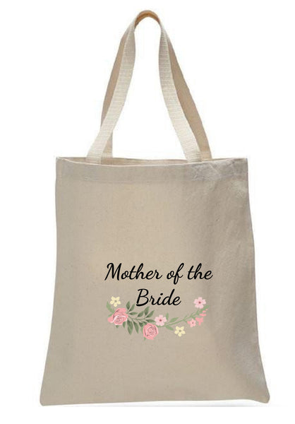 Wedding Canvas Gift Tote Bags, Party Gifts, Mother of the Bride, WB38