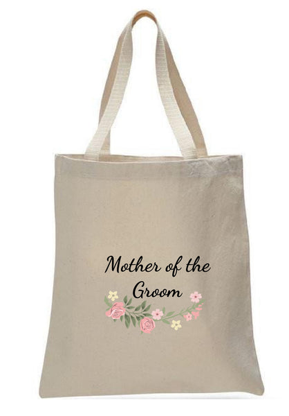 Wedding Canvas Gift Tote Bags, Party Gifts, Mother of the Groom, WB39
