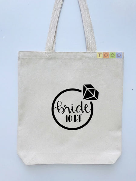 Bride To Be Canvas Tote Bags BB09