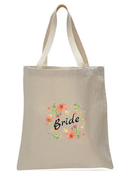 Wedding Canvas Gift Tote Bags, Party Gifts, Bride, WB41