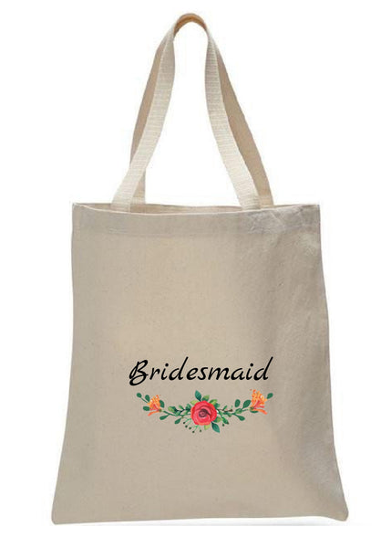 Wedding Canvas Gift Tote Bags, Party Gifts, Bridesmaid, WB46