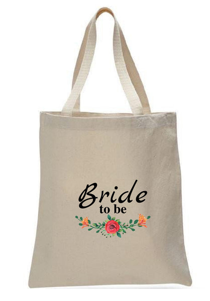 Wedding Canvas Gift Tote Bags, Party Gifts, Bride, WB47